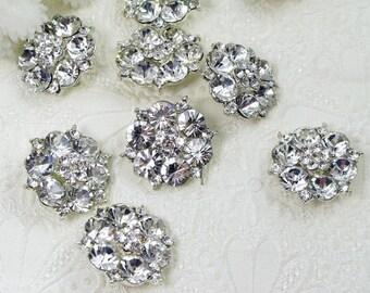 10pc Diamante Crystal Rhinestone Brooch Wedding Rhinestone Brooch Bouquet Brooch Pin Wedding Invitation Napkin Ring Cake Decor Embellishment