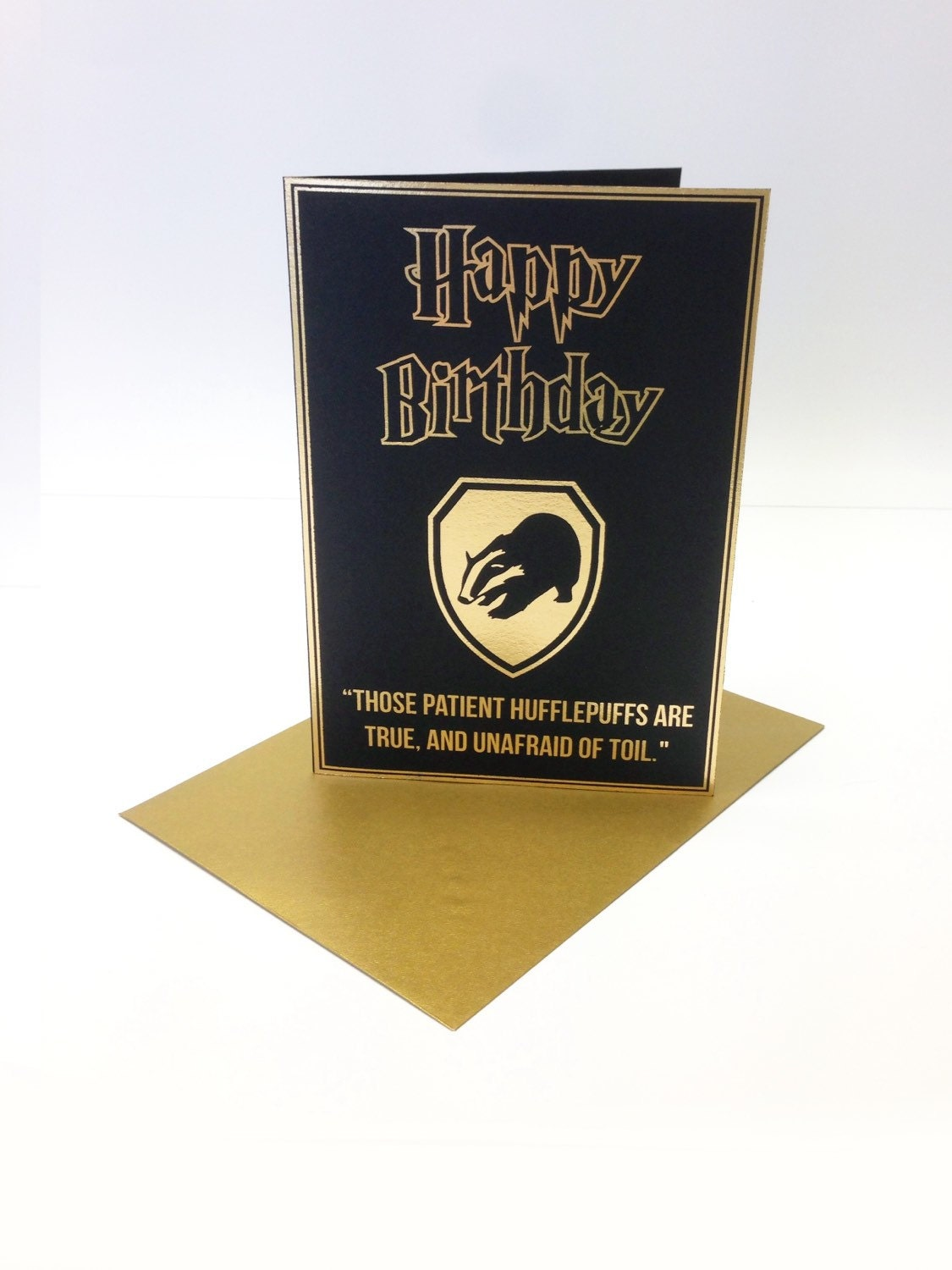 harry potter inspired birthday card with a stylised