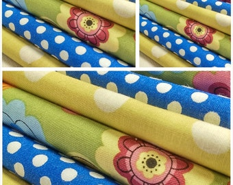 Kids fabric fabric bundle baby fabric quilting by kkutekkidz for Childrens fabric bundles