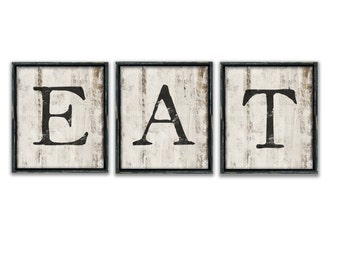 Eat Wall Art eat sign kitchen sign eat wooden sign kitchen art kitchen wall