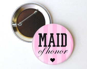 Wedding favors - Bridal shower favors - Wedding shower favors - Rehearsal favors - Wedding buttons - Maid of honor button