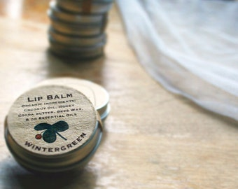 25 winter wedding favors / organic lip balm / mint winter guest bridal mint favor mint wedding sage mint lip balm  wedding favor