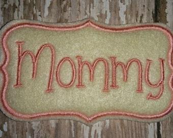 Mommy Baby Shower Oversize Feltie Felt Embellishment Corsage Bow! Birthday Party Oversized Mom Mother Mother's Day Flower Center