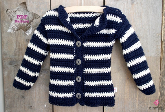 Crochet pattern Baby Cardigan Vest Banded