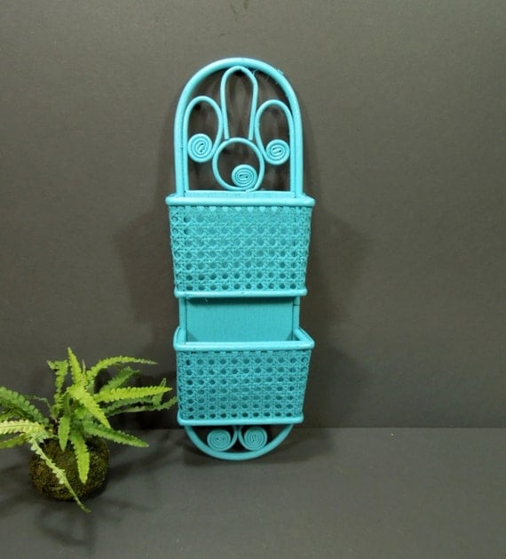 Wall Mail Sorter Wall Decor Upcycled Wicker Wall Mail