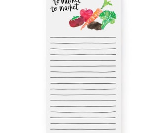 To Market, To Market - Grocery List, Market Notepad, Notepad, To Do Notes, List, Hand lettered Notepad/N-105
