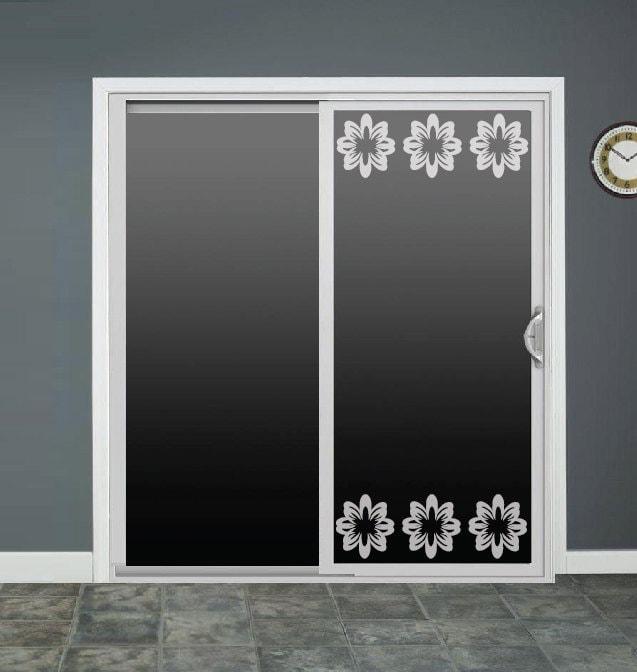 Flowers Frame Glass Door Decals Sliding Door Decal Door