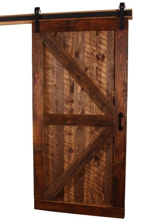 Rustic Barn Door With Reclaimed Woods