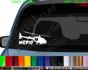 FLIGHT MEDIC Star Of Life Decal sticker Decals Ems EMT Fire Ambulance Rescue Sticker stickers Chopper Critical Care Air Evac Helicopter rn