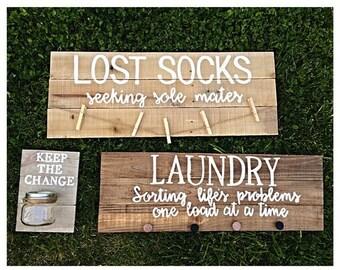 Laundry room decor - laundry decor - laundry signs