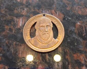 Christopher Columbus token cut coin