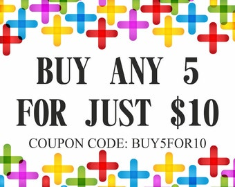 Counted Cross Stitch Patterns Sale, Needlepoint Patterns, Coupon Code GET5FOR10 (Please Do NOT Purchase This Listing)