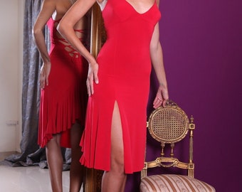 Lace Up Back Jersey Dress (in many colours)