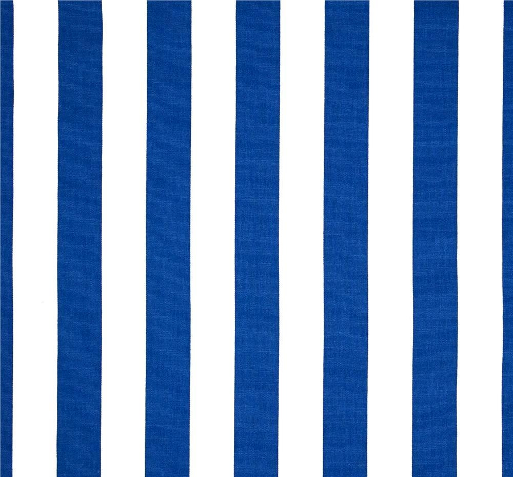 Tropical Royal Blue Stripe Fabric By The Yard Designer Cotton