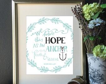 Hope | Hebrews | Anchor | Soul | Bible | We Have This Hope | Hebrews 6:19