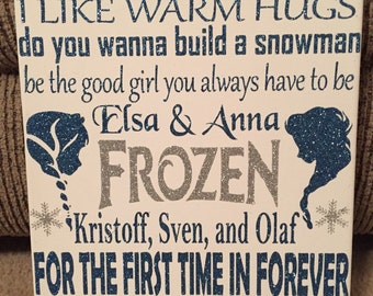 Frozen Inspired 9 by 12 Canvas Subway Art