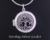 Tree of Life Necklace Locket depicting a CelticTree of Life Intricately Detailed - Lovely Tree of Life Necklace, Tree of Life Jewelry 060
