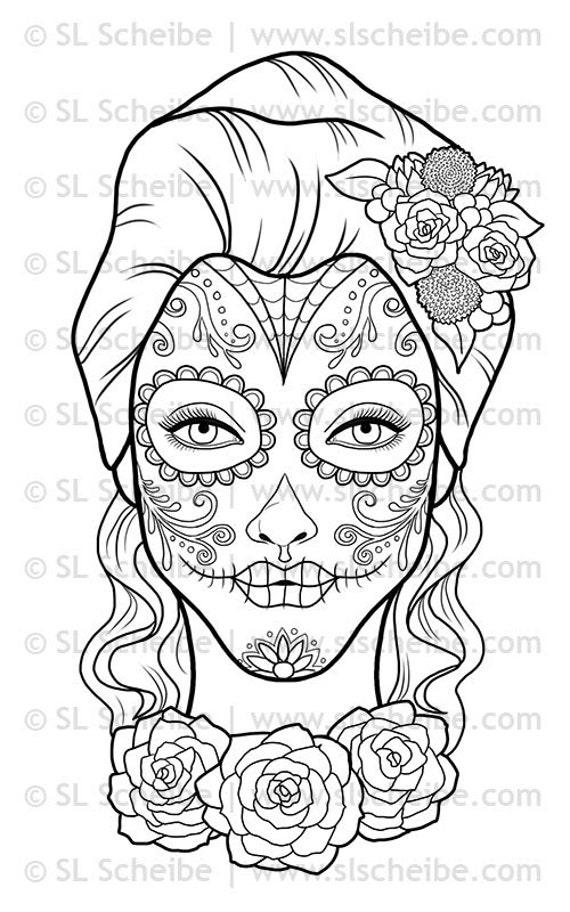 like this item - De Los Muertos Coloring Pages