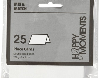 25 x Place Cards White