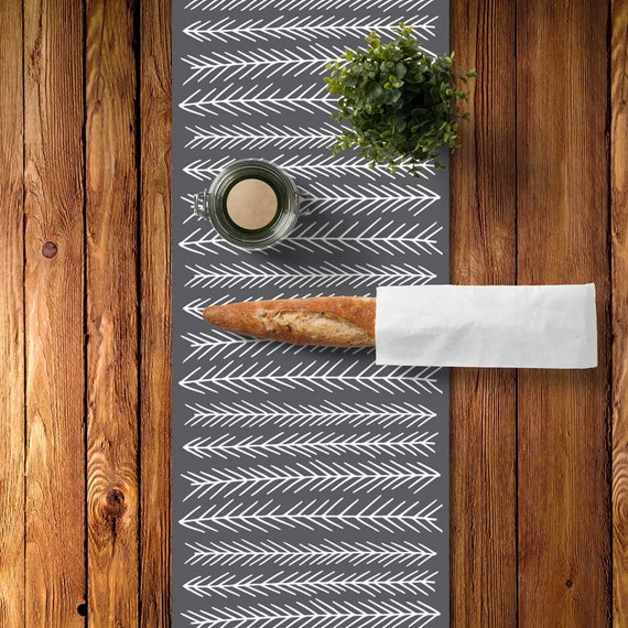 Rustic Table Runner Rustic Dining Room Scandinavian Table Runner