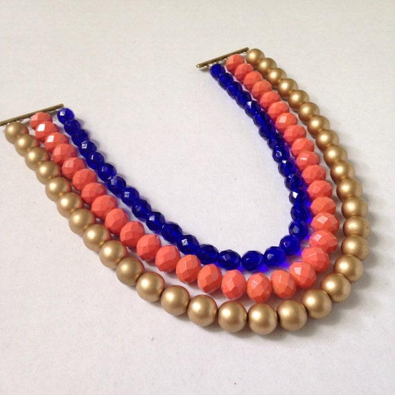 Items Similar To Multistrand Statement Necklace