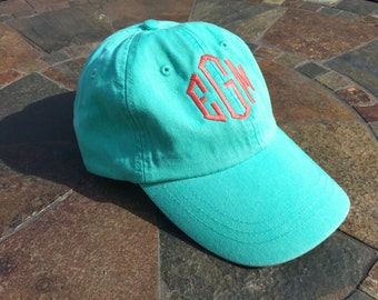 Monogrammed Hat, Baseball Hat, Baseball Cap, Embroidered Hat