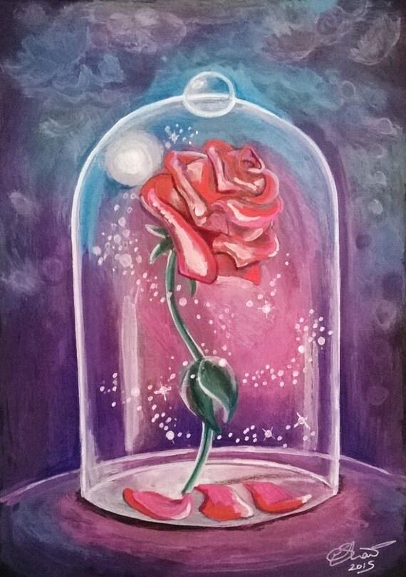 Reserved For Lisa Custom Enchanted Rose A4 Artwork