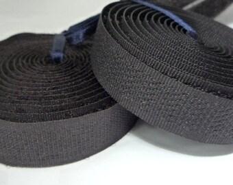 Dark Brown Sew on Hook + Loop Velcro Tape 1/2 inch / 1.3 cm width Craft Supplies MT3