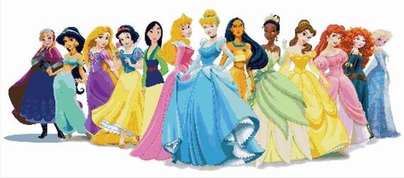 Compt croix broderie princesses disney princesses - Toutes les princesse disney ...