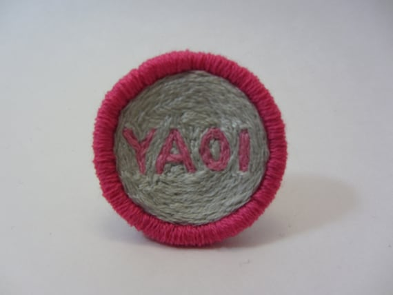 YAOI Hand Embroidered Merit Badge-Style Patch