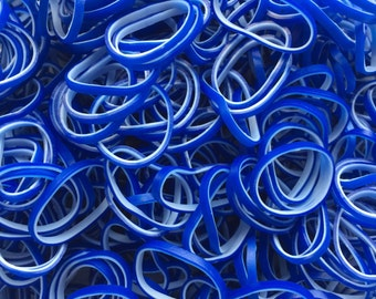 Denim Blue Dual-Layer ** Rainbow Loom Bands Refill. 600 bands & 24 c-clips. Guaranteed authentic. Latex-free.