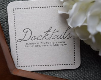 Boating Gift | Letterpress Coasters | Personalized | Docktails boat coasters are the perfect gift for any captain!