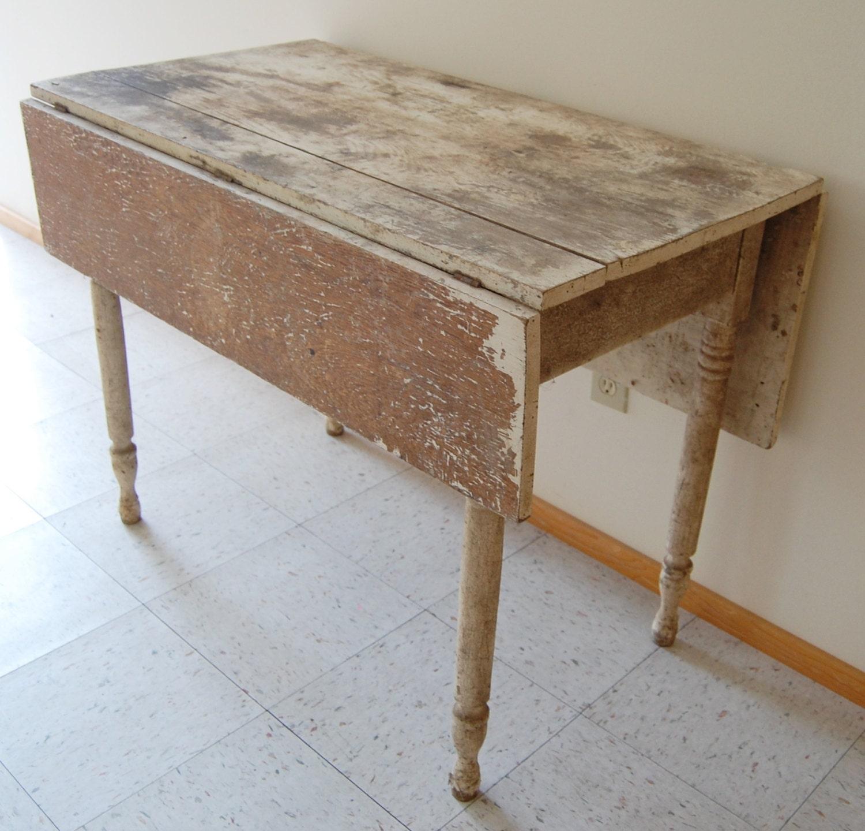 FREE SHIP Primitive Farm Table Vintage Rustic Chippy