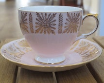 Vintage Queen Anne Bone China cup and saucer-free shipping