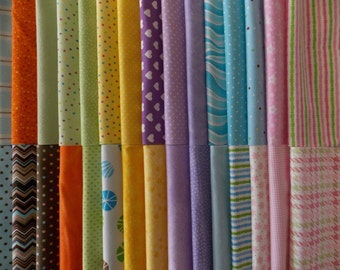 """Baby Flannels Fabric 30 Piece 10"""" Squares Layer Cake Quilt Fabric Baby Blanket."""