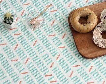 Modern Style Mint Stick Pattern Cotton Fabric by Yard