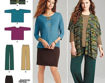 Simplicity Sewing Pattern 1071 Miss and Plus Size Knit Sportswear