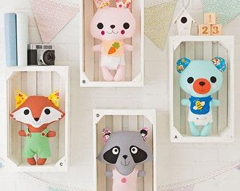 Simplicity Sewing Pattern 1081 Stuffed Animals