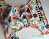 Dinosaur Toss OSFM Fitted Cloth Nappy