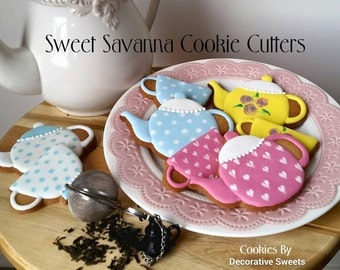 Tea Set, Tea pot, Tea bag, Tea cup Cookie Cutters