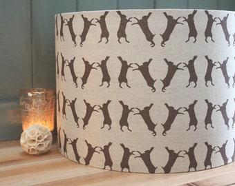 Boxing Hares Lamp Shade