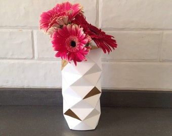 Origami Vase White / Paper Cover