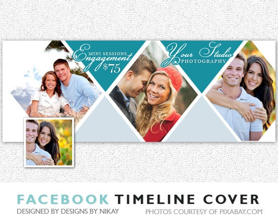 Facebook Timeline Cover // Photoshop Template // INSTANT DOWNLOAD // FB018