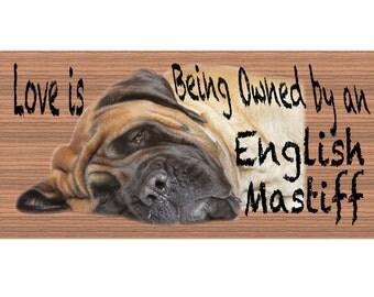 English Mastiff Wood Sign  - Handmade Wood sign, English Mastiff GS407 English Mastiff plaque