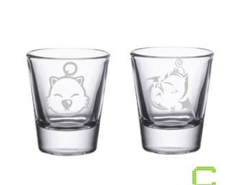 Final Fantasy - Moogle - Etched Shot Glasses
