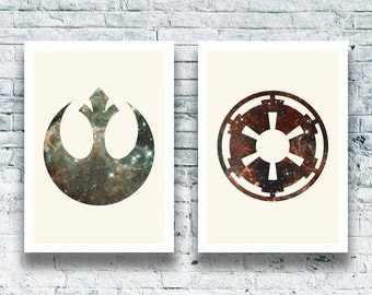 Star Wars Imperial & Rebel Galaxy Logo Duo downloadable digital art print