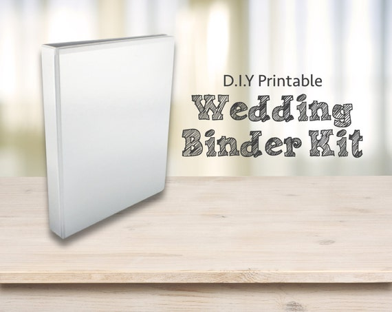 Printable Wedding Planner Binder Planning A Rustic: Wedding Planner Kit DIY Printable Wedding Planning Kit