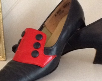 """60's Leather Shoes, """"Fenettes"""" by Fenway, Size 6"""