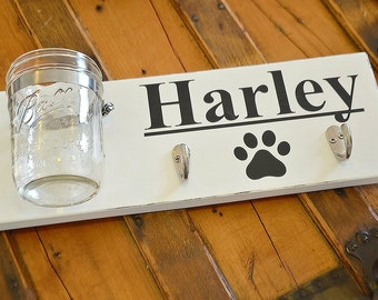 Custom Dog Treat & Leash holder
