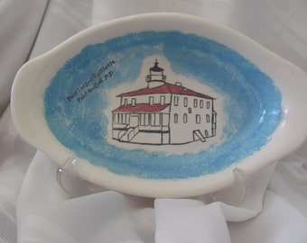 Point Lookout Lighthouse Oblong Serving Dish
